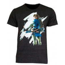 CAMISETA ZELDA BREATH OF THE WILD TEE EXTRA GRANDE NEGRO
