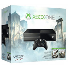 CONSOLA XBOX ONE NEGRO 500GB CON ASSASSINS CREED UNITY Y ASSASSINS CREED BLACKFLAG