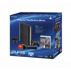 CONSOLA NUEVO PLAYSTATION 3 SLIM NEGRO 250GB PLAYSTATION MOVE
