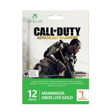TARJETA XBOX LIVE 12 MAS 1 MESES CALL OF DUTY ADVANCED WARFARE