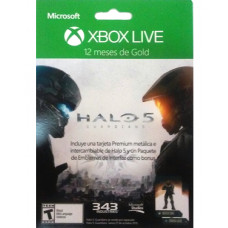 XBOX LIVE 12 MESES HALO 5 METAL CARD