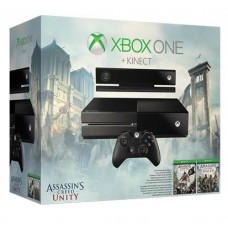 CONSOLA XBOX ONE NEGRO 500GB CON KINECT ASSASSINS CREED UNITY Y ASSASSINS CREED BLACK FLAG