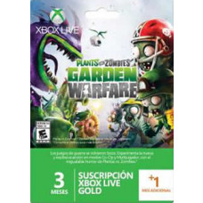 XBOX LVE 3 MESES MAS 1 MES PLANTS VS ZOMBIES
