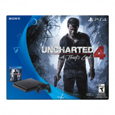 CONSOLA PLAYSTATION 4 SLIM NEGRO 500GB UNCHARTED 4 BUNDLE